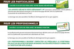 Accès plateforme Déchets Verts du Sydetom66