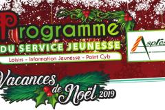 Programme d'activités vacances de Noël 2019 - Service Jeunesse CC ASPRES
