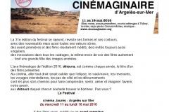 31ème Festival Rencontres Cinémaginaire d'Argelès sur Mer