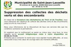 Suppression collecte déchets verts et encombrants